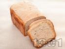 Рецепта Лесен хляб за хлебопекарна с пълнозърнесто и типово брашно, тиквени семки и ленено семе
